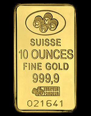 Pamp Suisse Gold Bullion Bar 10 OZ Reverse