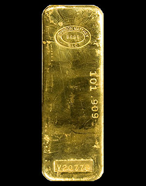 Johnson Matthey Gold Bullion Bar 1 Kilo (32.15 OZ) Obverse