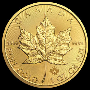 Canadian Gold Maple Leaf 1 OZ Reverse