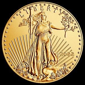 American $50 Gold Eagle 1 OZ Obverse