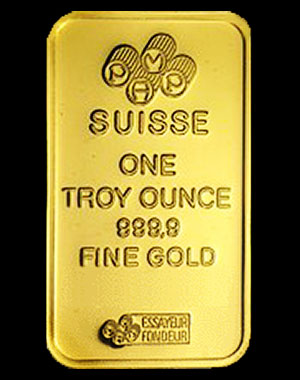 Pamp Suisse Gold Bullion Bar 1 OZ Reverse