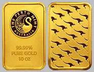 Perth Mint Gold Kangaroo Bullion Bar 10 OZ