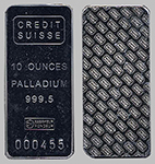 Credit Suisse Palladium Bullion Bar 10 OZ