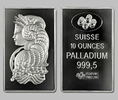 Pamp Suisse Palladium Bullion Bar 10 OZ