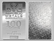 Republic Metals Silver Bullion Bars 100 OZ