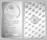 Sunshine Mint Silver Bullion Bar 10 OZ
