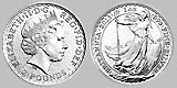 British Royal Mint Silver Britannia Coin 1 OZ