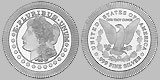 SilverTowne Stacker Morgan Dollar Round 1 OZ