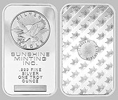 Sunshine Mint Silver Bullion Bar 1 OZ