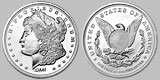 Sunshine Mint Silver Morgan Dollar Round 1 OZ