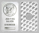 Sunshine Mint Silver Bullion Bar 5 OZ
